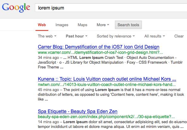 Lorem Ipsum search